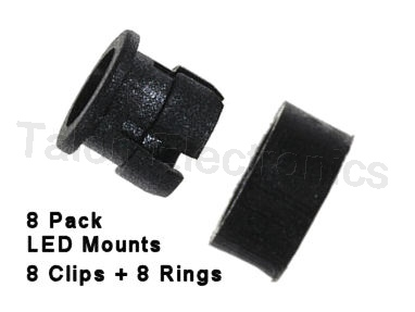 Panel Mount LED Holder for 5mm LEDs - 8 Pack