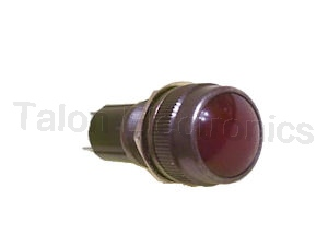 Panel Mount Watertight Lampholder with RED lens