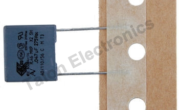 .047uF / 275VAC X2 rated radial film box capacitor