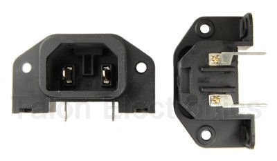 IEC 2 Pin Power Receptacle - Chassis or PC Mount