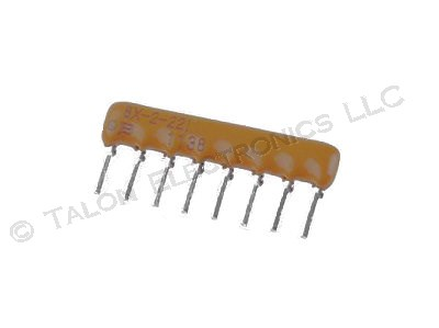 220 ohm 8 Pin SIP Isolated Resistor Network