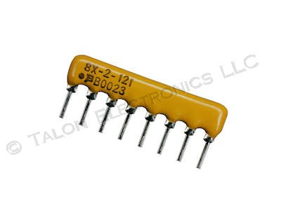 120 ohm 8 Pin SIP Isolated Resistor Network