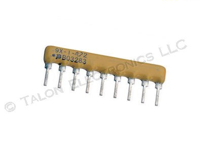 4.7K  (4K7) ohm 9 Pin Bussed Resistor Network