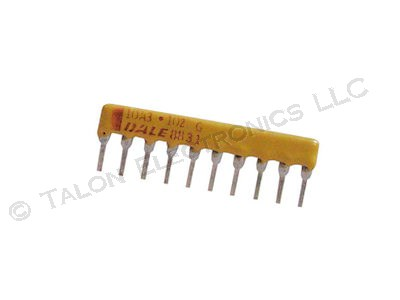 1.0K ohm 10 Pin Isolated Resistor Network CSC10A03102G 1K