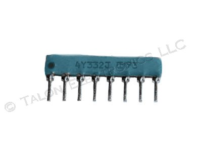 3.3K ohm 8 Pin Isolated Resistor Network - Murata RSL8Y332G