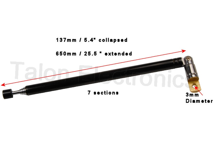 Telescopic Antenna for Portable Radios