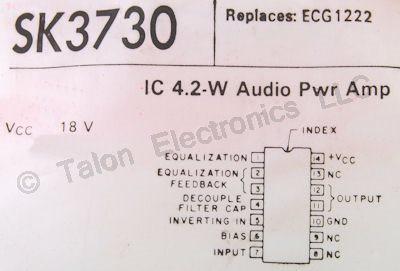 SK3730 Audio Power Amplifier Integrated Circuit