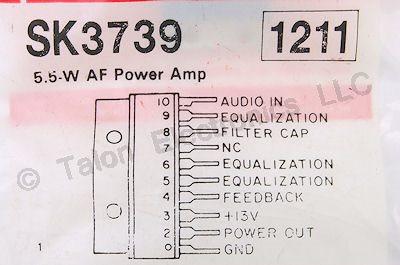 SK3739 5 5 Watt Audio Power Amplifier Integrated Circuit