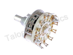 6 Position 2 Pole Rotary Switch Electroswitch D4C0206N-MOD