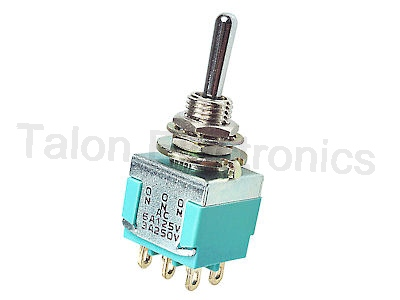 DPDT ON-ON-ON Miniature Toggle Switch