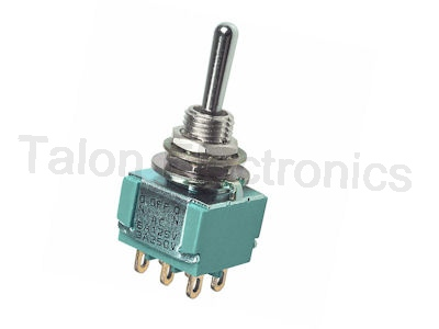 DPDT ON-OFF-(ON) Miniature Toggle Switch MTA-206T