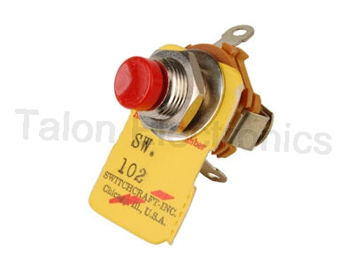 SPST Momentary Pushbutton NC Switch Switchcraft 102