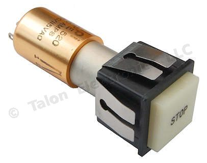 DPDT  Pushbutton Switch with Lamp Circuit IPI/Oak 520