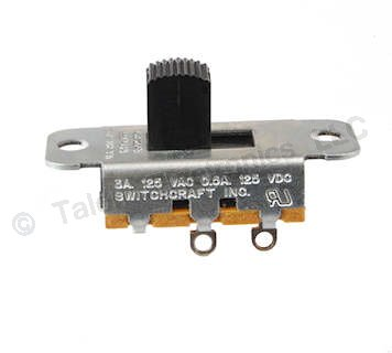 SPST OFF-(ON) Panel Mount Slide Switch  Switchcraft 46201MR