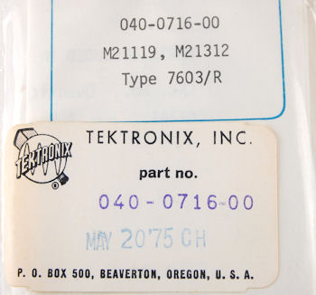 040-0716-00 Tektronix Modification Kit