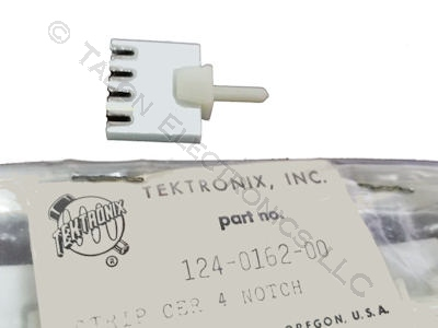 124-0162-00 Tektronix 4 Notch Ceramic Strip