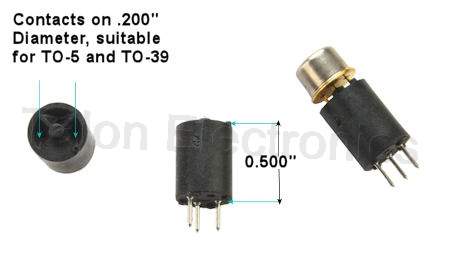 3 pin Transistor Socket for TO-5, TO-39