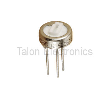 50K Ohms Single Turn Trimmer (4 per pkg)