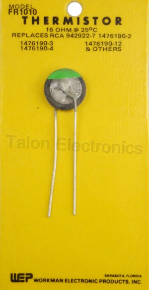 Workman FR1010 Thermistor 16 Ohms @ 25°C