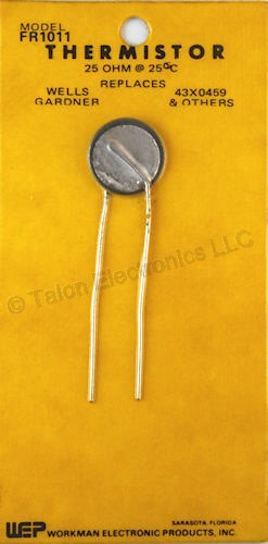 Workman FR1011 Thermistor 25 Ohms @ 25°C