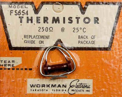 Workman FS654 Thermistor 250 ohms at 25°C